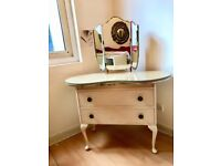 Vintage retro Dressing Table with 2 drawers