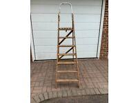 Vintage decorators wooden step ladder