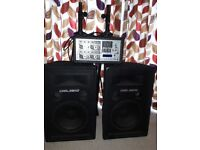 Complete sound system suitable for DJ start up or parties