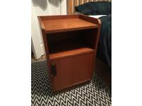 Bedside table - solid oak, dark brown, great quality