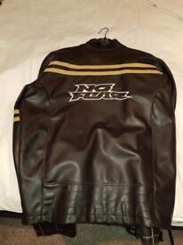 NO FEAR LEATHER JACKET FROM USA