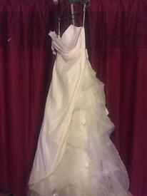 Veromia size 14 pink ivory wedding dress