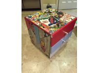 Small 2-drawer cabinet in Superhero or map design, matching table available