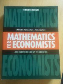 Mathematics for economists, Malcolm Pemberton and Nicholas Rau