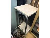 Ditsy shabby chic kitsch plant stand | table | metal frame
