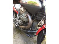 1100cc sport touring bike with moto guzzi side panniers in excellent condition not till may 2017