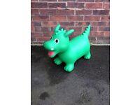 Inflatable dragon hopper