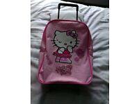 Hello Kitty pull along suitcase