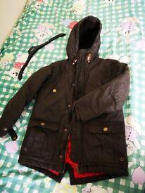 Next Boys Winter Waterproof Padded Jacket Coat Size 7 Years Old
