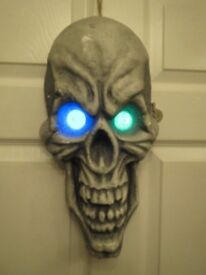 Scary light up skull, hanging skull, skeleton head, Halloween prop/decoration