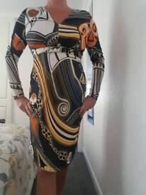 designer dress. Ashley Brooke.