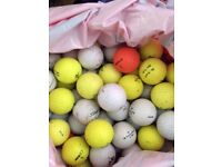 Assorted golf balls