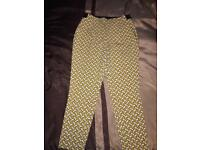 Zara Size M Printed Trousers