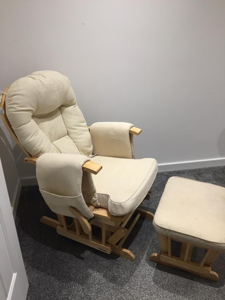 Pleasing Sereno Reclining Glider Rocking Chair Nursing Chair And Foot Stool In Peterlee County Durham Gumtree Pabps2019 Chair Design Images Pabps2019Com