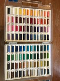 Mettler Polysheen embroidery threads 96 spools