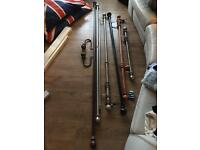 6 x curtain poles
