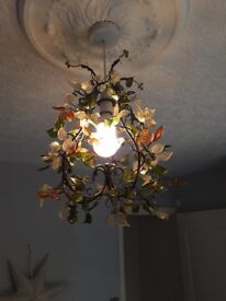 Glass leaf pattern lamp shade. Great condition.