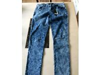 New ripped skinny jeans size 14