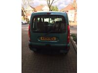 Renault Kangoo with disabled access (Gowring conversion) still including four seats.