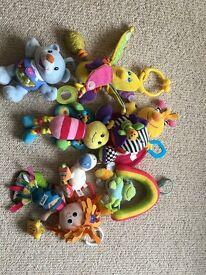 Baby toys, Lamaze mermaid, ELC musical bee, vtech singing bear