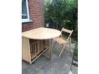 Drop Leaf Table with 4 x Chairs
