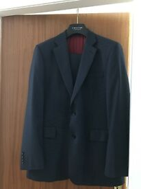 Chester by Chester Barrie 100% wool blue suit 42R jacket and 36R trousers