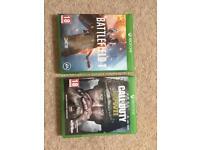 Cod ww2 , battlefield 1 Xbox games