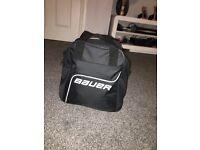 Bauer puck bag with 29 pucks