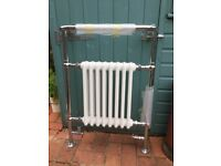 Brand new Victorian style heated towel rail with