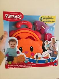 Pop up shape sorter brand new