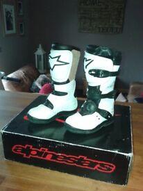 Alpinestars tech 4s Childs motocross/trials boots