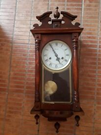 Antique Ornate Lincoln 31 Day Windup Wall Clock with Chimes £80