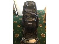 Graco double pushchair and car seat