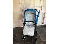 Silvercross wayfarer pram pushchair vgc with sun canopy and cosy toes