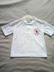 Rickleton Primary School white polo shirt - new ( 3/4yrs )