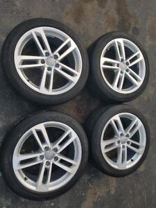 "18"" OEM Audi TT Alloy Wheels w/ All Season Tires"