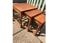 Solid oak nest of tables (can deliver)