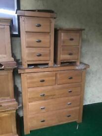 Solid oak bedside table £99