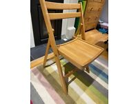 Folding wooden dining chair