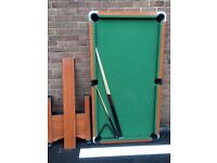 Wooden effect 6x3 pool/snooker table -excellent condition