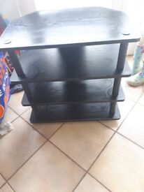Black wood tv stand immaculate condition upto 32in