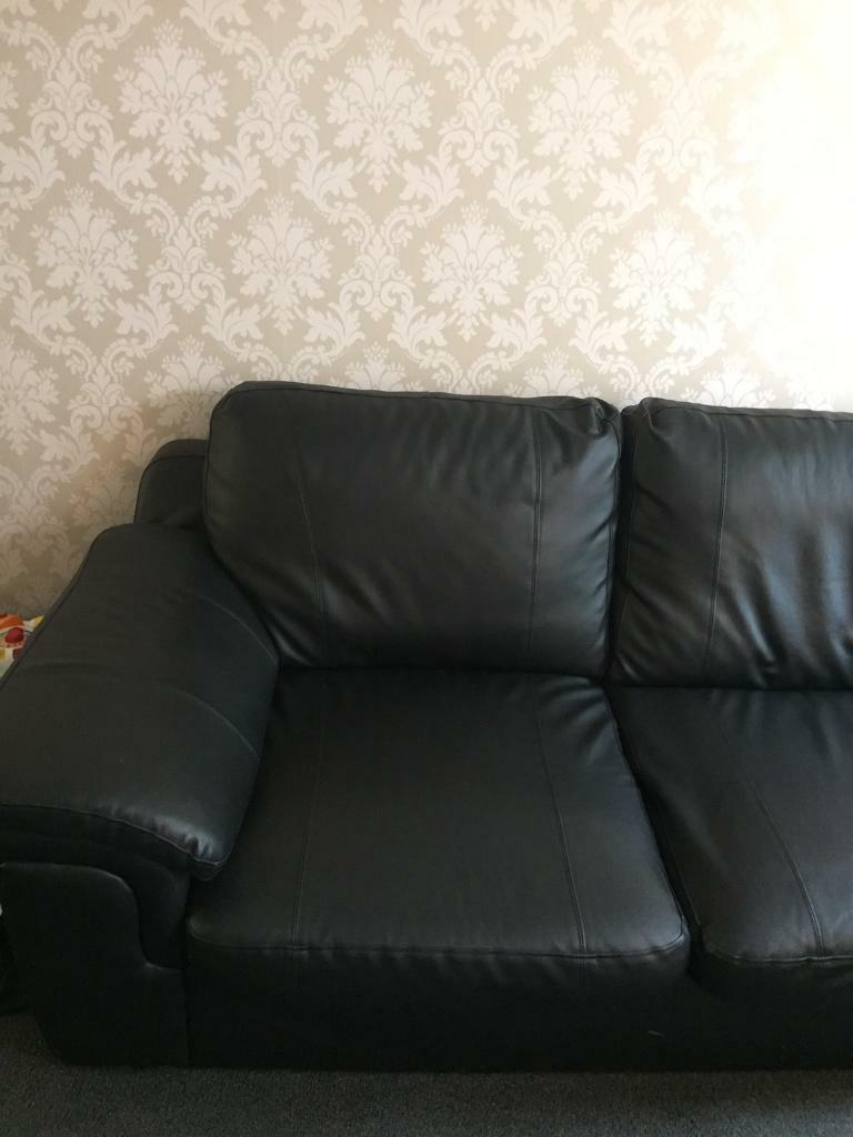 Black leather sofasin Wilmslow, CheshireGumtree - 3 seater and 2 seater black leather sofas only selling due to moving and having no storage space for them in excellent clean condition I have regularly cleaned these sofas with specialist leather cleaner so well looked after