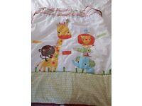 Next Safari cotbed bedding