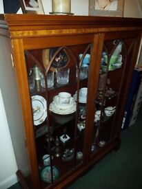Solid Wood Mahogany Display Cabinet