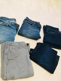 5 x men's jeans 32L from Next/Holister (£2 pair)