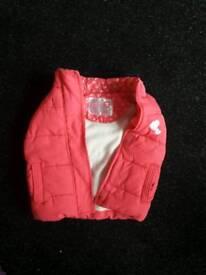 Pink girls waistcoat