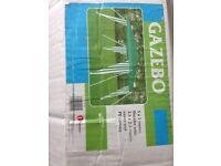 green gazebo 3m x 3m