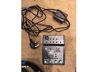 Behringer XENYX Mini Mixer.