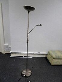 Modern stainless steel standard lamp