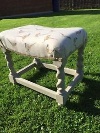 Refurbished vintage oak footstool